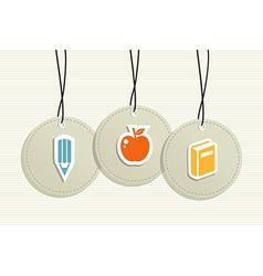 Hanging school badges elements vector image vector image