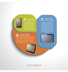Modern Infographics template with computer devices vector image vector image