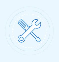 tool outline vector image