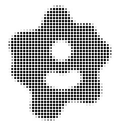 Amoeba halftone icon vector