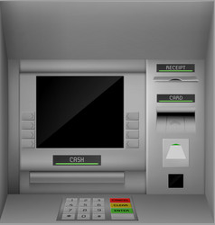 Atm screen automated teller machine monitor vector