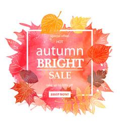 Autumn leaf foliage watercolor vector