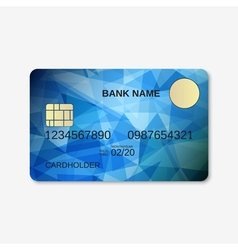 Bank card credit card discount card design vector