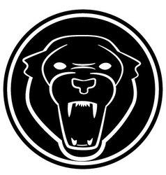 Black panther symbol vector