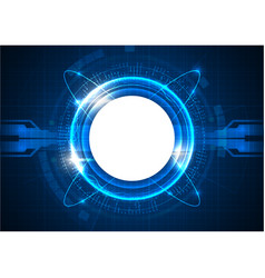 Blue futuristic digital circle technology vector