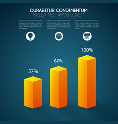 Business graph infographics vector