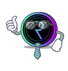 Businessman request network coin character cartoon vector