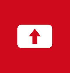 button upload icon template design vector image
