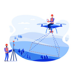 Cadastral engineers surveyors and measurements vector