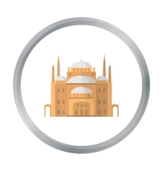 Cairo Citadel icon in cartoon style isolated on vector