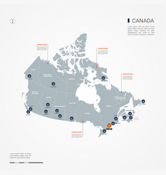 Canada infographic map vector