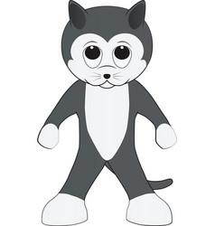 Cartoon of a friendly cat vector