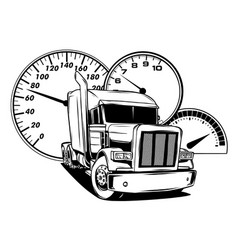cartoon semi truck design art vector image