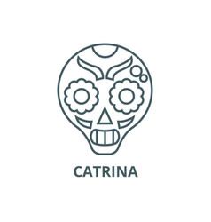 Catrina line icon catrina outline sign vector