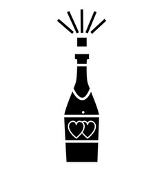 Champagne popping icon sig vector