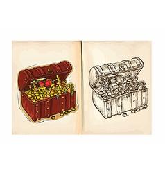 Childrens coloring book - Treasure vector
