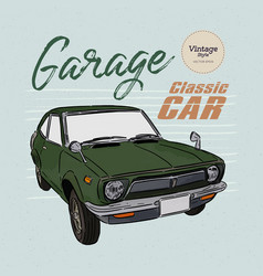 classic car hand draw sketch vector image