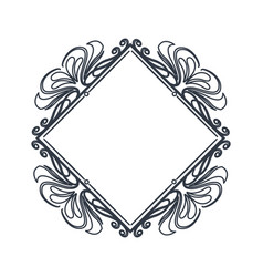 classic frame polygon crest heraldic decoration vector image