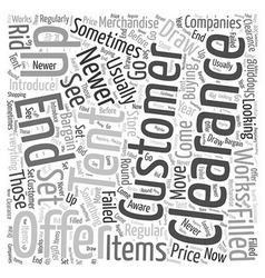 Clearance tents Word Cloud Concept vector