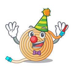 Clown the water hose mascot vector