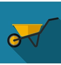 color flat barrow icon vector image