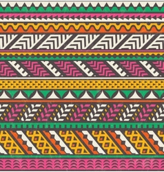 Colorful ethnic print seamless background vector image