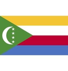 Comoros flag image vector