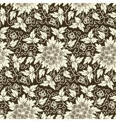 Cultural floral patterns vector