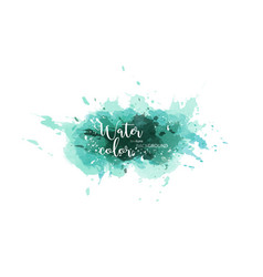 deep green abstract watercolor splash background vector image