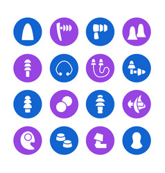 Earplugs flat glyph icons healthy sleep without vector