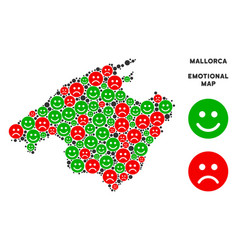 Emotional spain mallorca island map mosaic vector