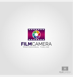 film camera logo template vector image