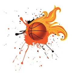 Fire Basketball Ball3 vector