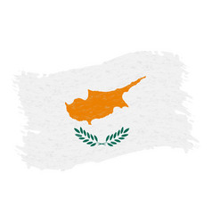 flag of cyprus grunge abstract brush stroke vector image