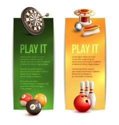 Game vertical banners vector image