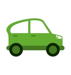 Green car transport industry contamination icon vector