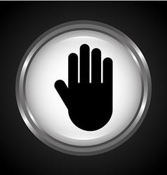 Hand stop vector