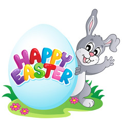 happy easter sign theme image 4 vector image