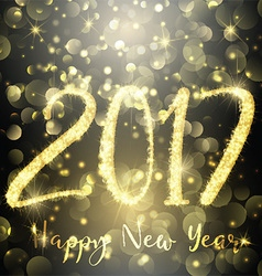 Happy new year sparkle background 1310 vector