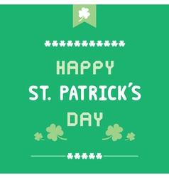 Happy Saint Patrick s Day4 vector image