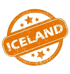 Iceland grunge icon vector image vector image