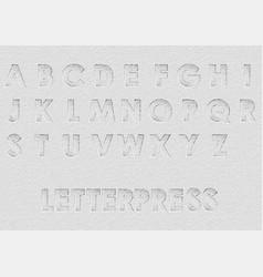 Letterpress vector