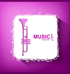 Light music concept vector