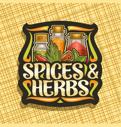 Logo for spices and herbs vector