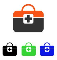 Medical kit flat icon vector