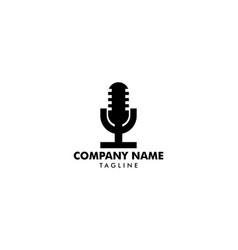 microphone logo icon vector image