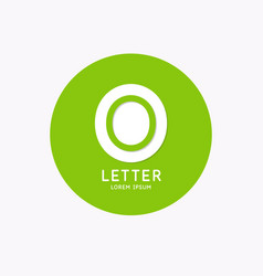 modern linear logo and sign letter o vector image