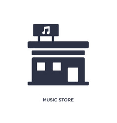Music store icon on white background simple vector