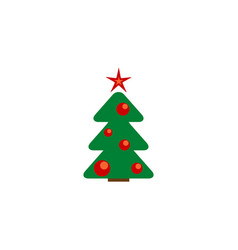 new year tree icon in the color vector image