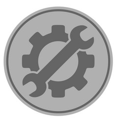 Optional gear silver coin vector